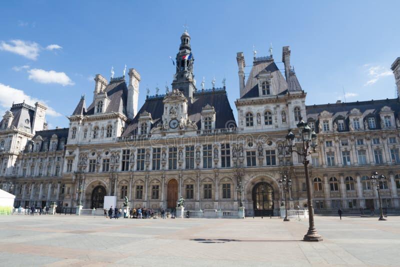 Stadshus som bygger Hotell de Ville arkivbilder