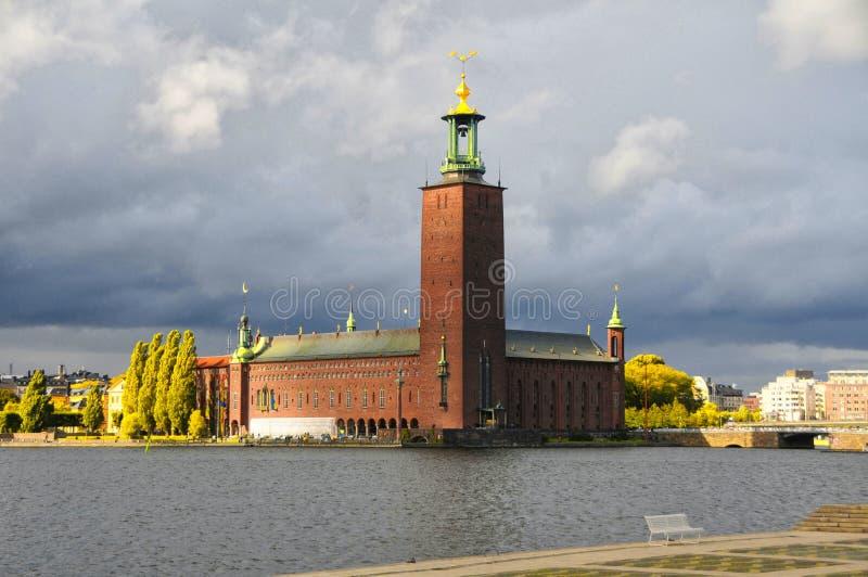 stadshus stockholm arkivfoto