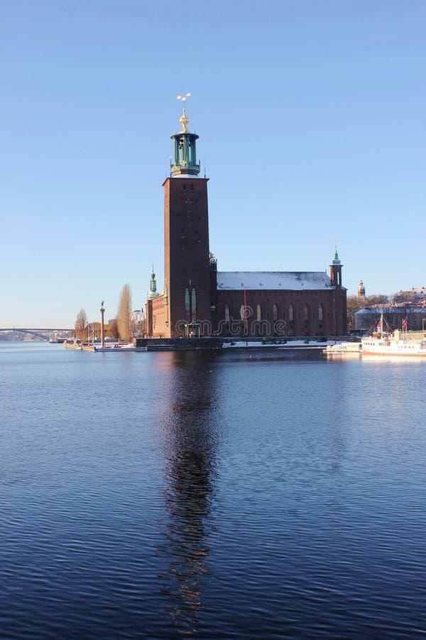 stadshus stockholms zima zdjęcie royalty free