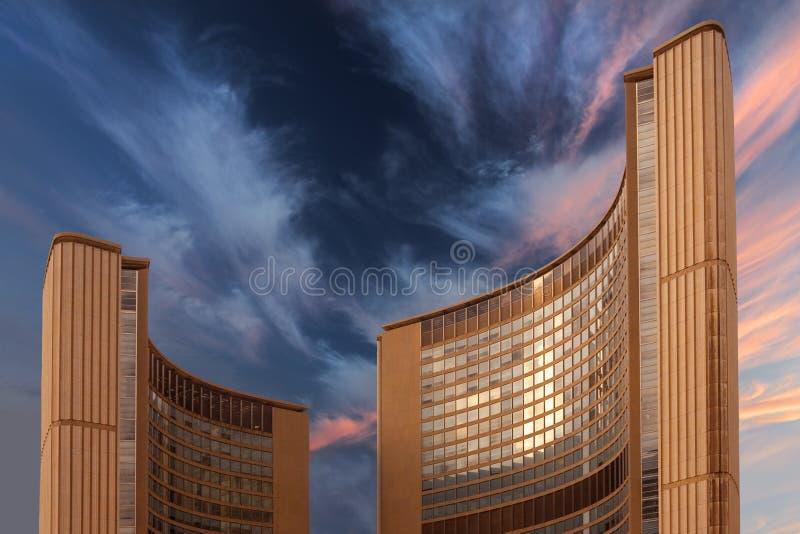stadshus toronto fotografering för bildbyråer