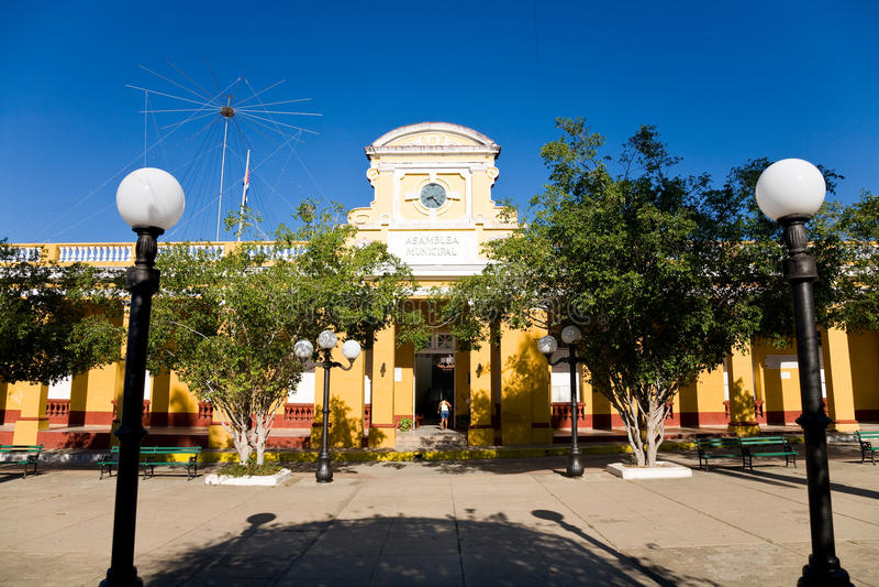 Stadshus Trinidad, Kuba royaltyfri fotografi