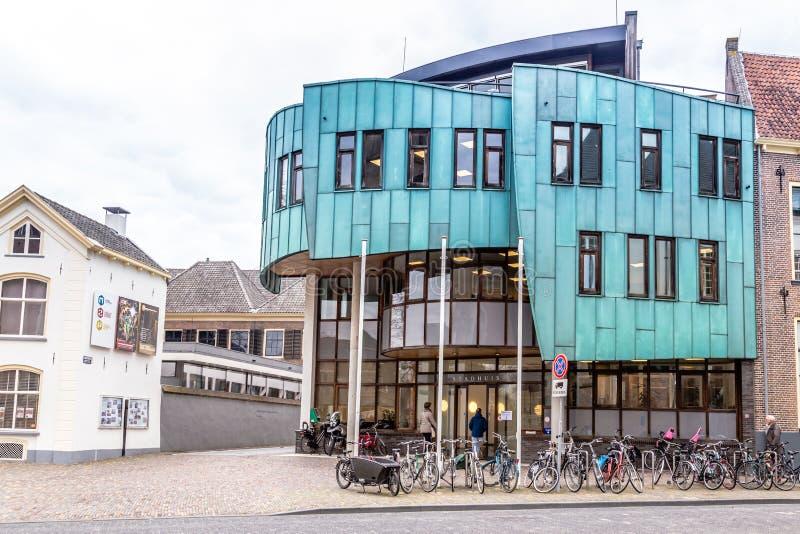 Stadshus Zutphen i Nederländerna fotografering för bildbyråer