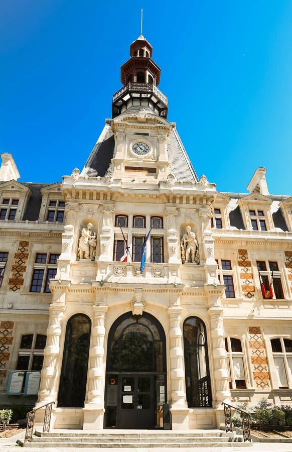 Stadshuset av den 12th arrondissmenten av Paris, Frankrike arkivbild
