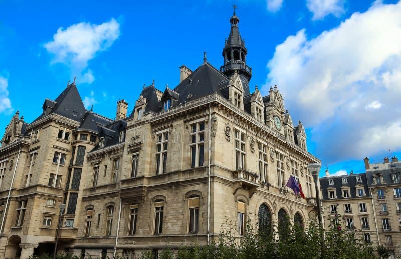 Stadshuset av den Vincennes staden arkivbild