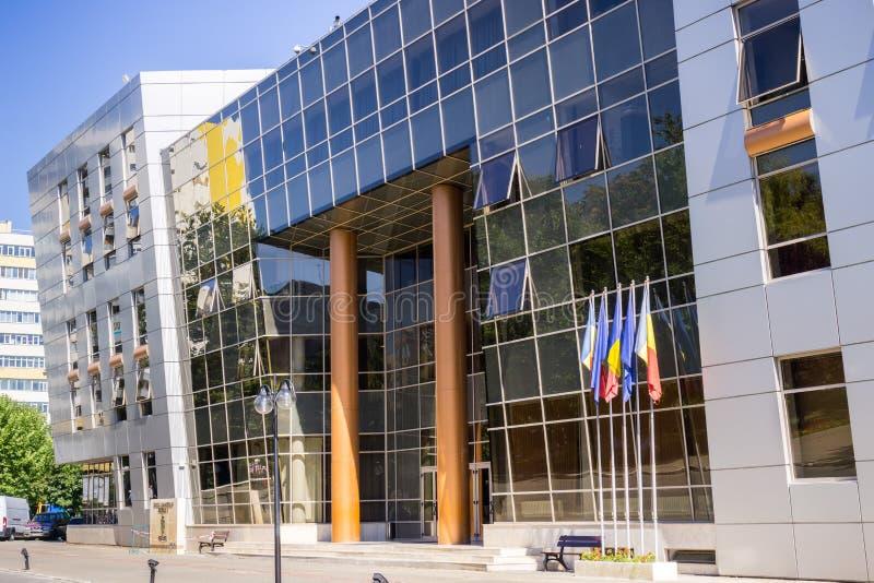 Stadshuset för område 2, Bucharest arkivfoto