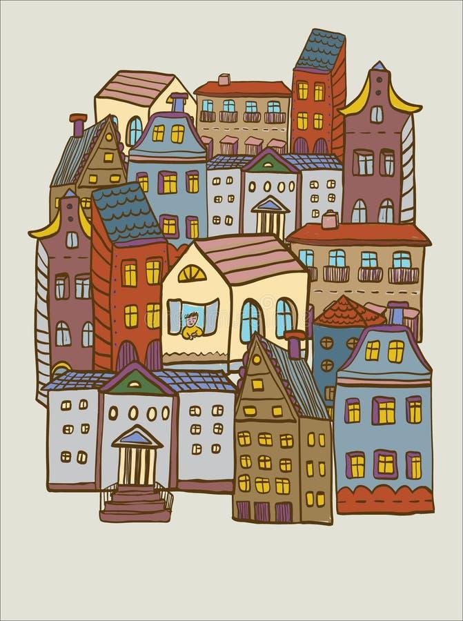 Stadshusmodell arkivbilder
