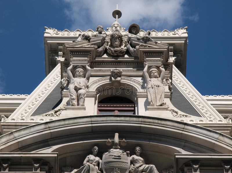 stadshusphiladelphia torn arkivbild