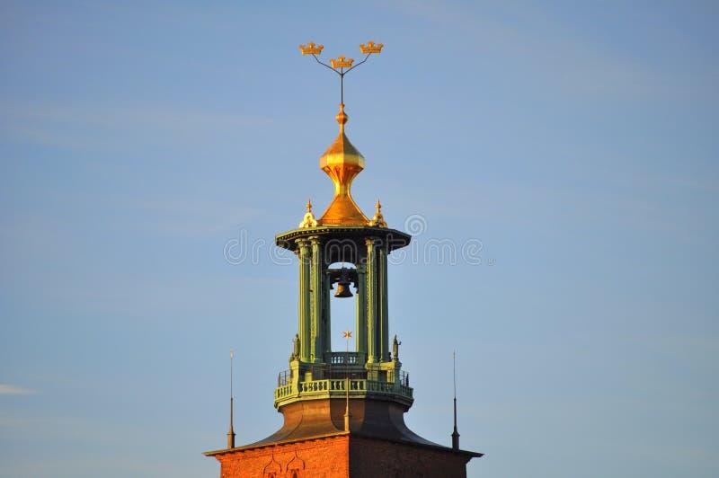 stadshusstockholm torn arkivbild
