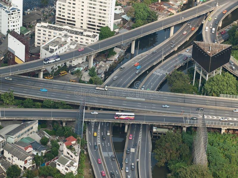stadshuvudvägar royaltyfria foton