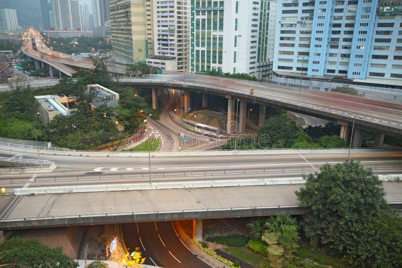 Stadshuvudvägar arkivbilder
