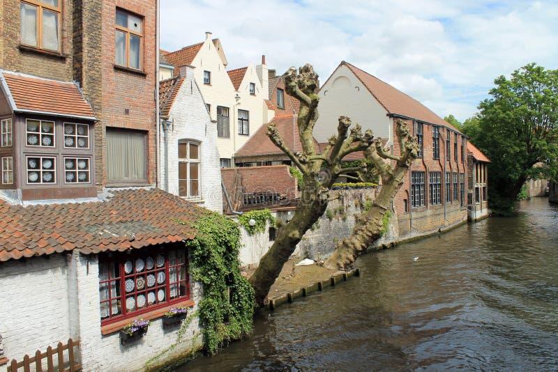 Stadsikter av Brugge (Belgien) royaltyfria bilder