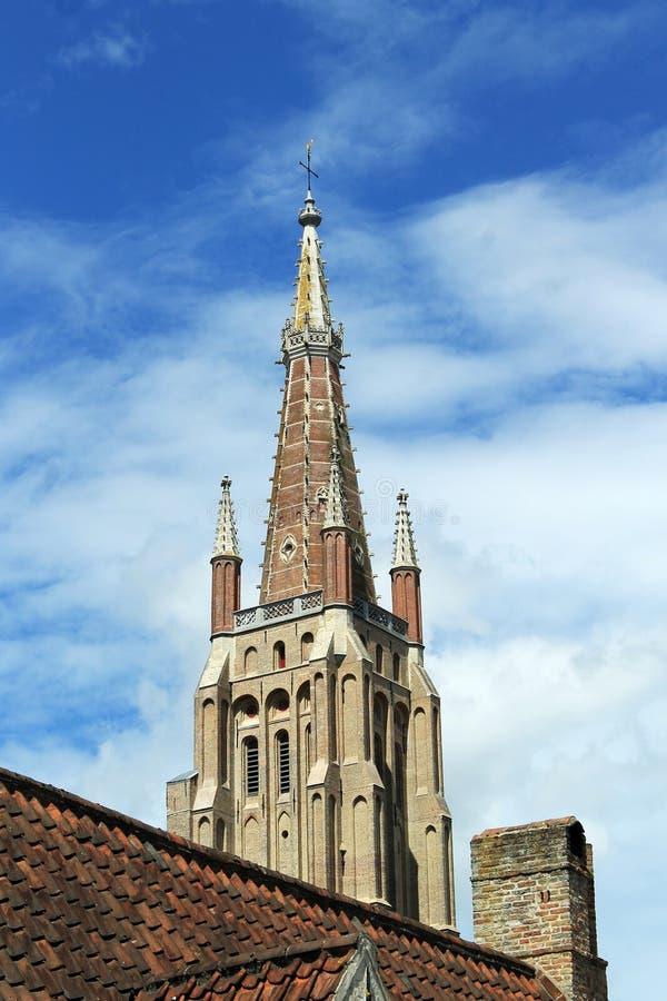 Stadsikter av Brugge (Belgien) royaltyfri bild
