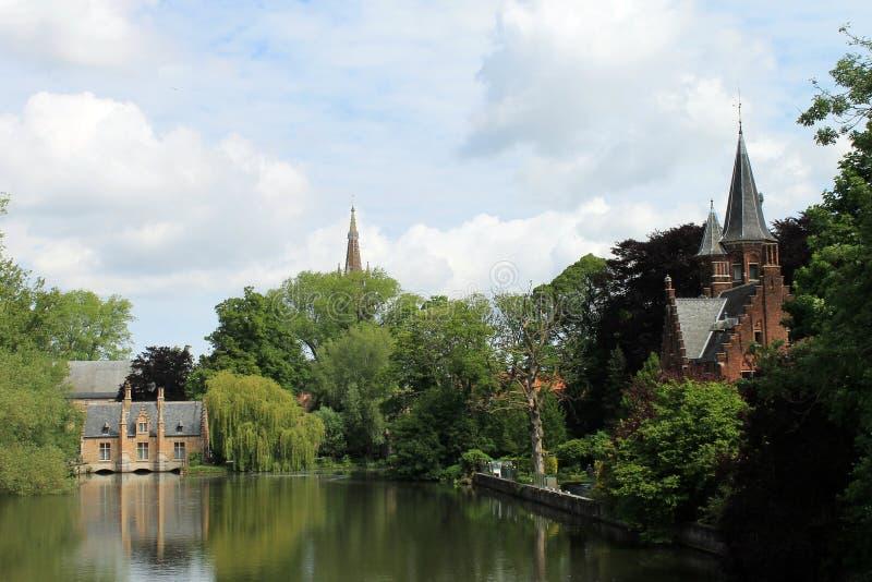 Stadsikter av Brugge (Belgien) arkivfoto