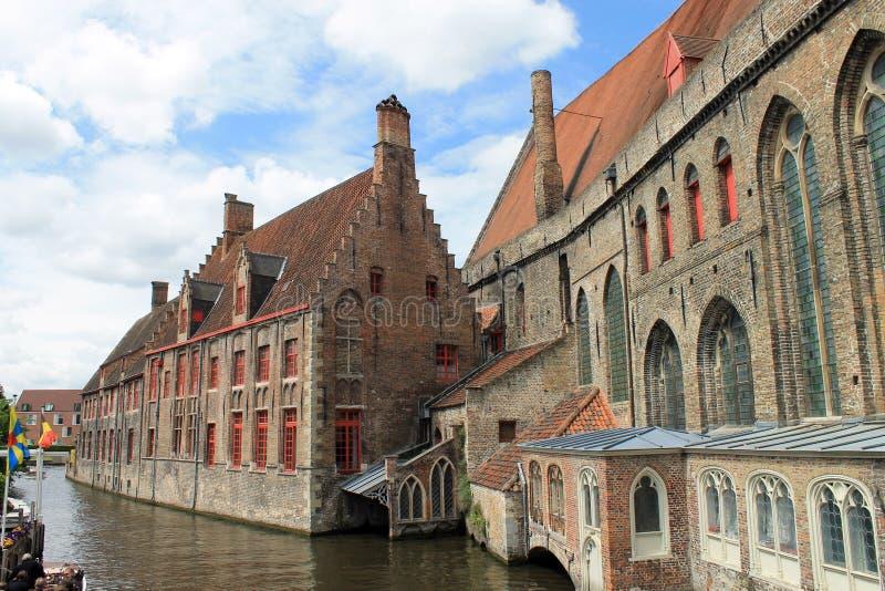 Stadsikter av Brugge (Belgien) royaltyfri foto