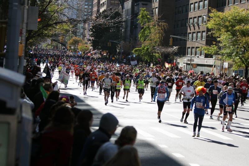 stadsingmaraton New York fotografering för bildbyråer