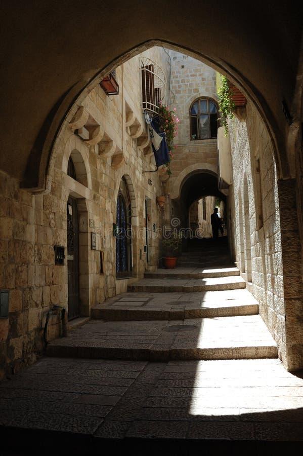 stadsisrael jerusalem gammal gata royaltyfria foton