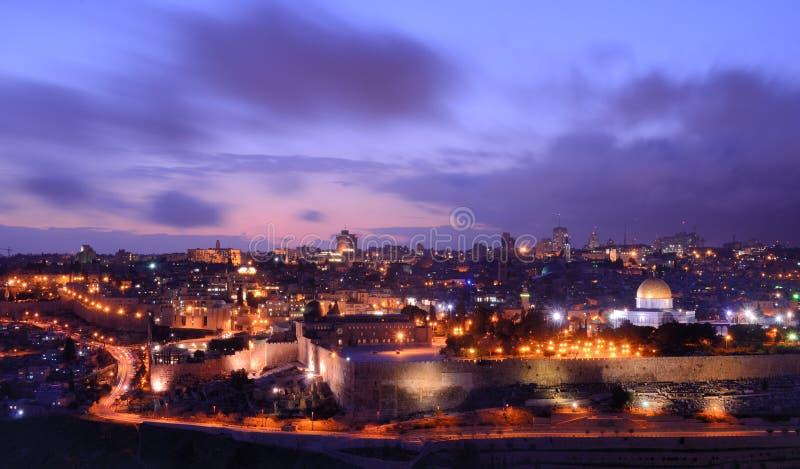 stadsjerusalem gammal horisont royaltyfri bild
