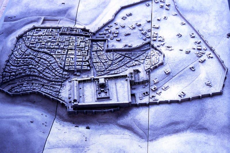 stadsjerusalem modell arkivbild