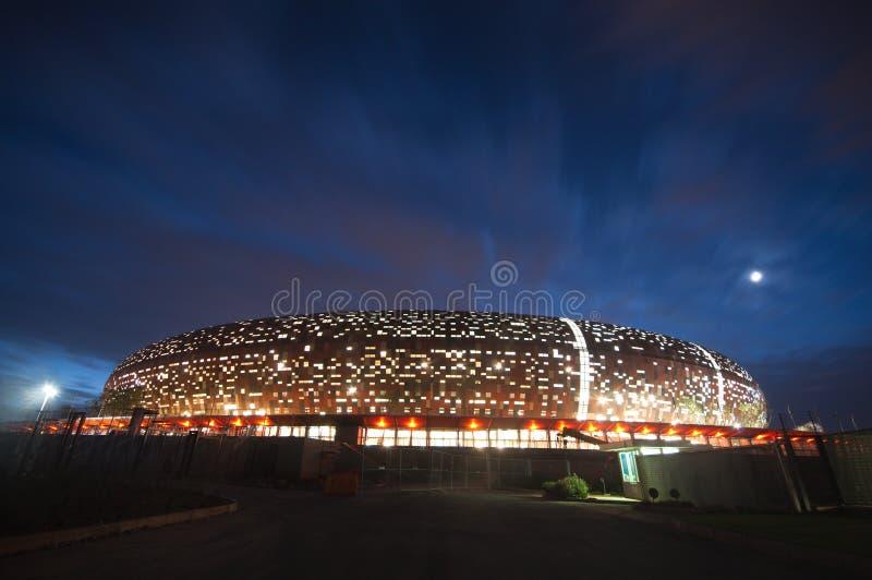 stadsjohannesburg fotboll royaltyfri fotografi