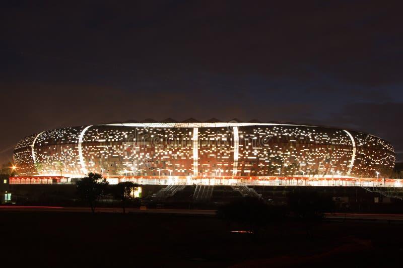 stadsjohannesburg fotboll royaltyfri bild