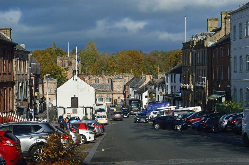 Stadskärna Appleby-i-Westmorland en traditionell cumbrian köping UK arkivbilder