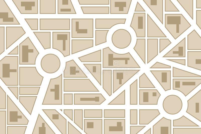 Stadskaart vector illustratie