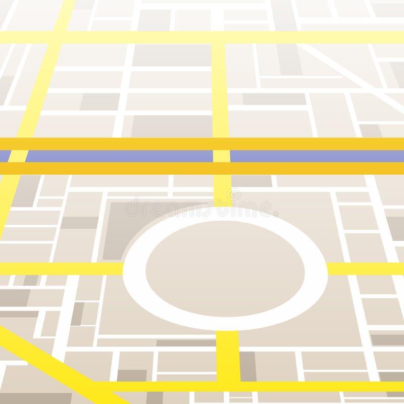 Stadskaart royalty-vrije illustratie