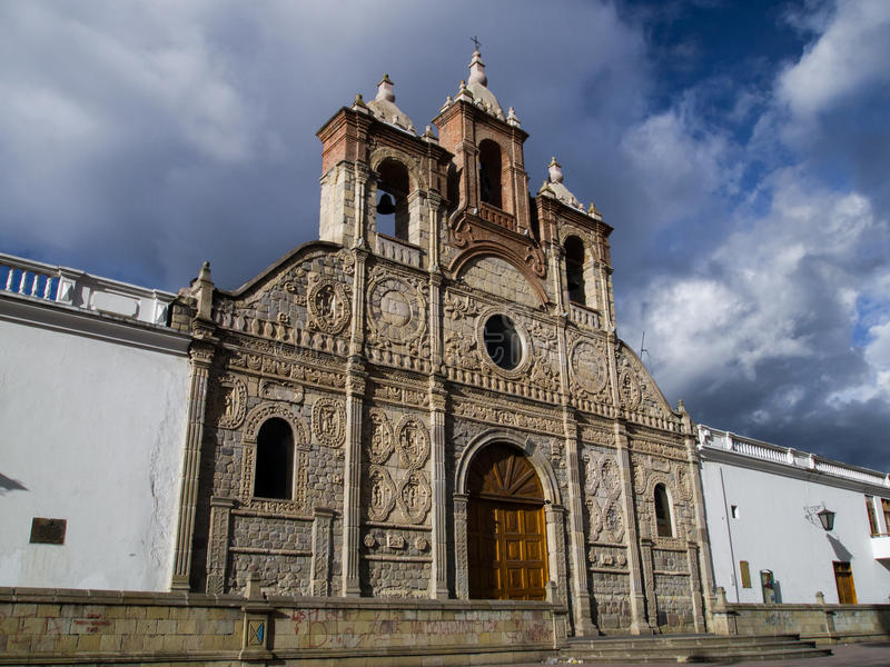 Stadskathedraal van Riobamba Ecuador royalty-vrije stock foto