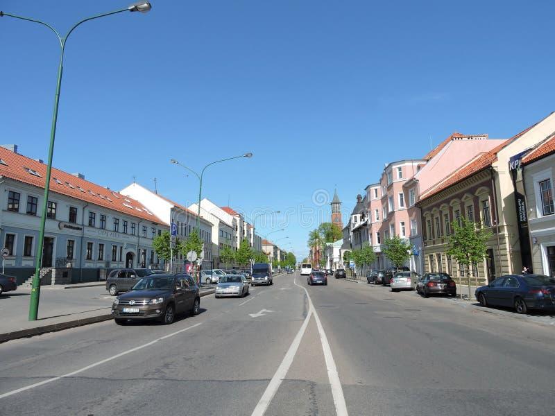 stadsklaipeda lithuania arkivbild