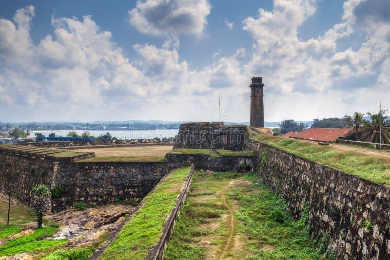 Stadsklokketoren in de stad van Galle in Sri Lanka stock fotografie