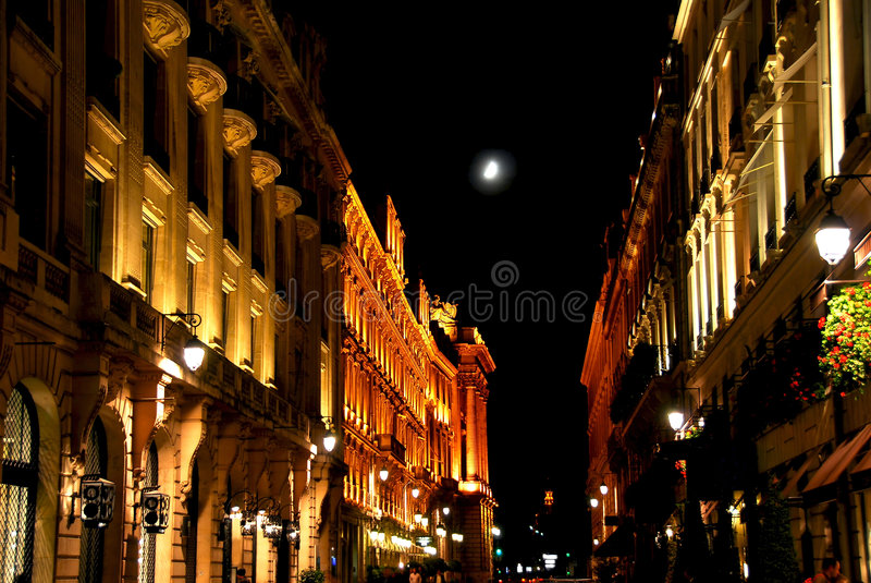 stadslampa arkivbild