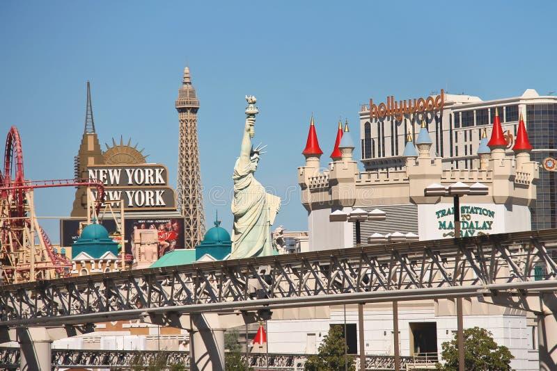 Stadslandschap in Las Vegas, Nevada. stock foto