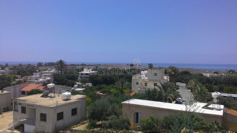 Stadslandschap van het Eiland Cyprus royalty-vrije stock foto's