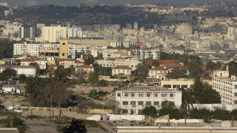 Stadslandskap i Alger, Algeriet royaltyfria bilder