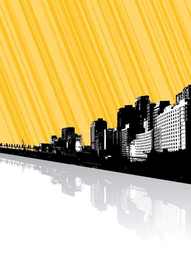 stadslinjer reflexion vektor illustrationer