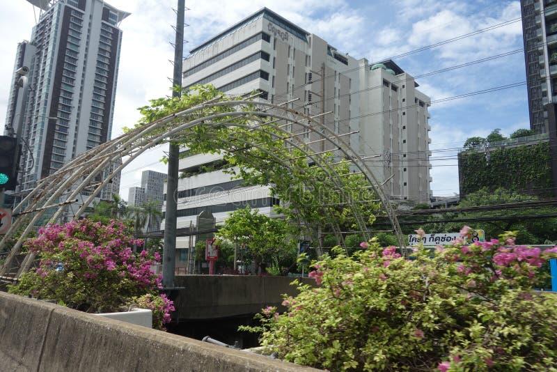 Stadsliv i Bangkok Thailand royaltyfri foto