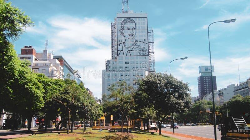 Stadsliv och gatasikt i Buenos Aires royaltyfria bilder