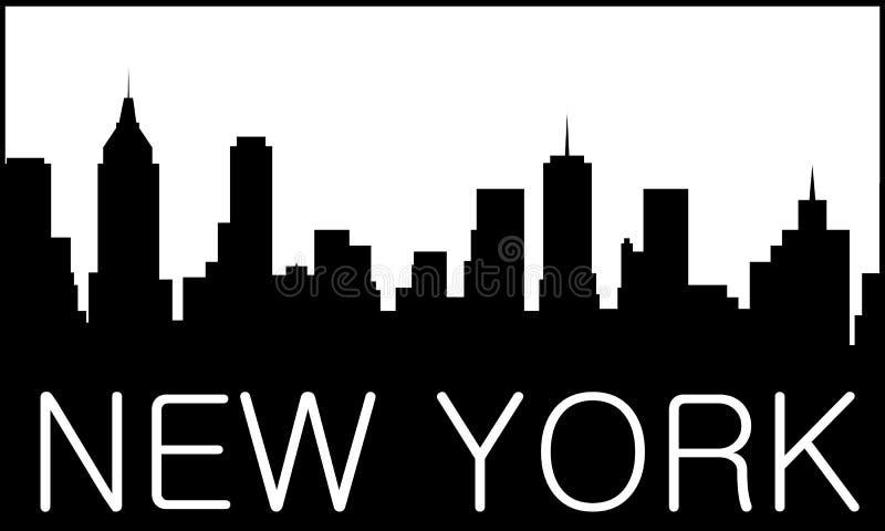 stadslogo New York royaltyfri illustrationer