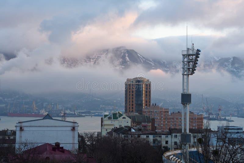 stadslondon vinter fotografering för bildbyråer
