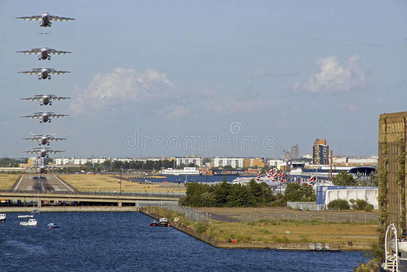 Stadsluchthaven royalty-vrije stock foto