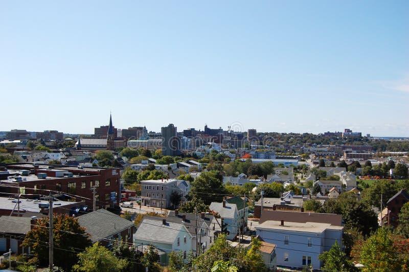stadsmaine portland horisont royaltyfri fotografi