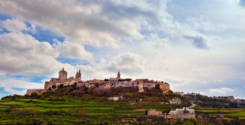 stadsmalta mdina royaltyfria foton