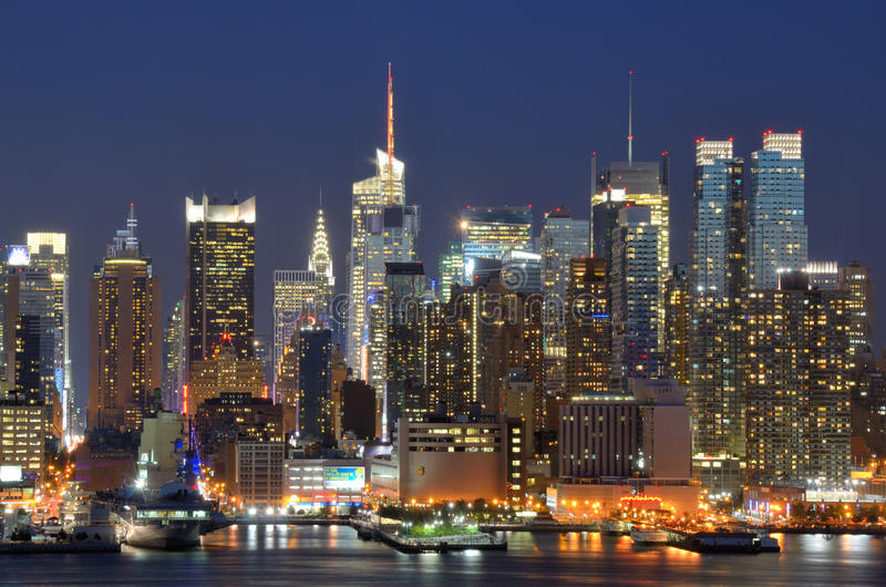 stadsmanhattan midtown New York royaltyfria foton