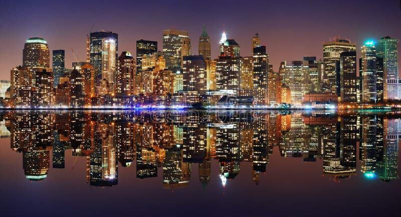 stadsmanhattan ny panorama york arkivbild