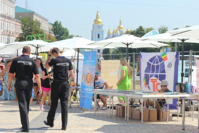 Stadsmarkt stock afbeeldingen