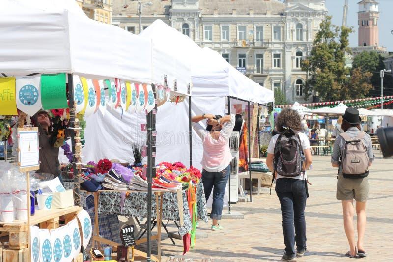 Stadsmarkt stock foto's