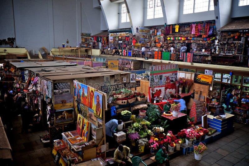 Stadsmarkt in Nairobi, Kenia royalty-vrije stock foto's