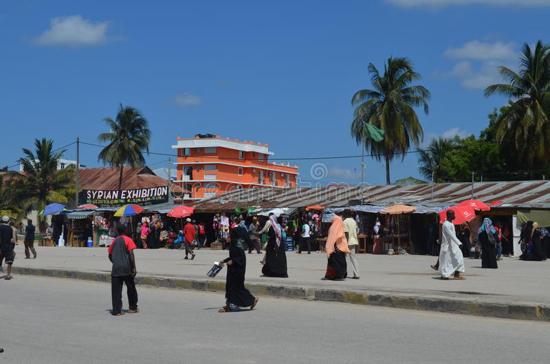 Stadsmarkt in Steenstad. royalty-vrije stock foto's