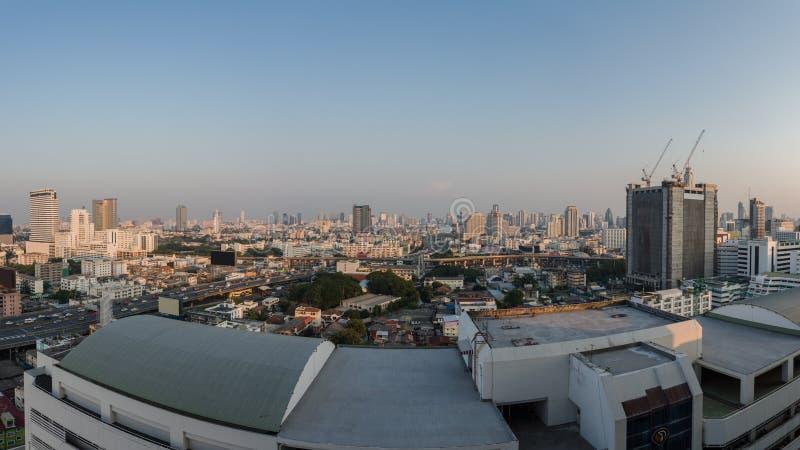 Stadsmening Centraal Bangkok royalty-vrije stock afbeeldingen