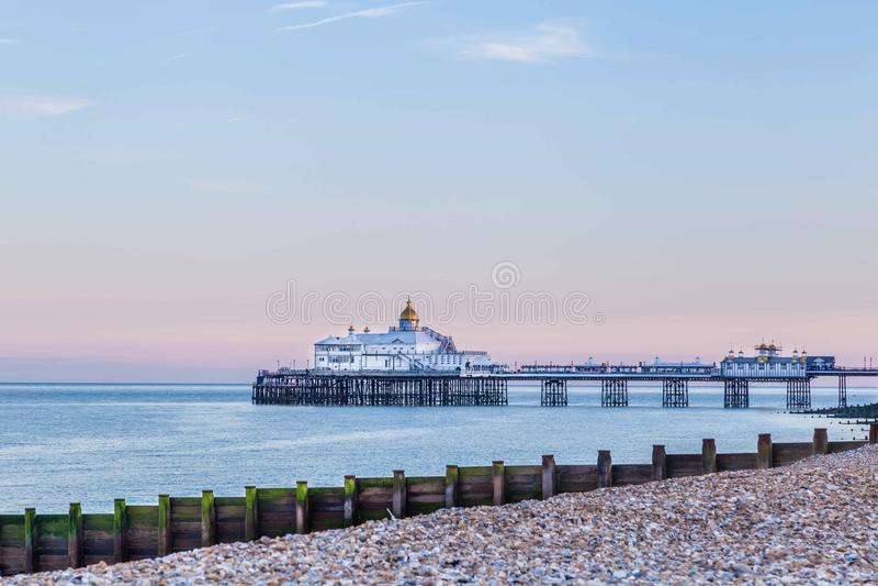 Stadsmening Eastbourne, het Verenigd Koninkrijk stock fotografie